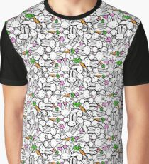 Bunny Pattern Graphic T-Shirt