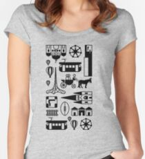 Icons of Melbourne Women's Fitted Scoop T-Shirt