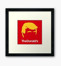 TheDonald's | Red Framed Print