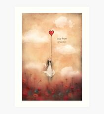 loVe from up above Art Print