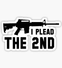I Plead the 2nd Pro Sticker