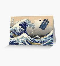 TARDIS at Kanagawa Greeting Card
