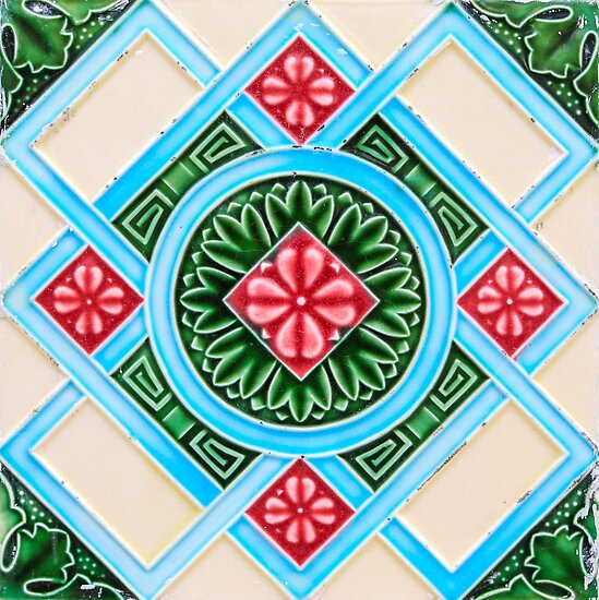 Quot Peranakan Floral Tile Quot Posters By Ernstc Redbubble
