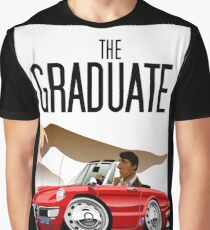Alfa Romeo Duetto caricature from the Graduate Graphic T-Shirt