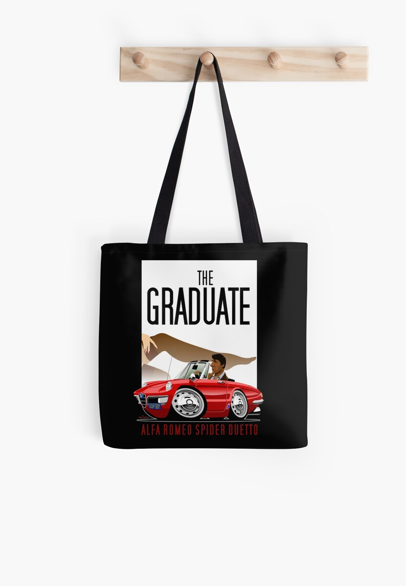 Alfa Romeo Duetto Caricature From The Graduate Tote Bags By Spider Car2oonz
