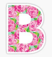 B Rose Letter Sticker