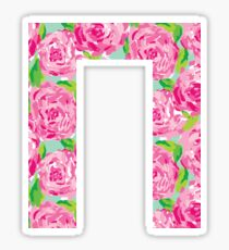 Pi Rose Letter Sticker