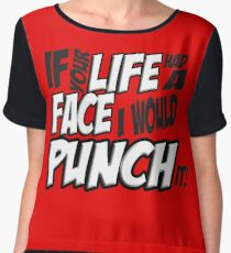 If Your Life Had A Face  I Would Punch It! - Scott pilgrim vs The World Chiffon Top