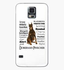Rote Dobermann-Eigenschaften Hülle & Klebefolie für Samsung Galaxy