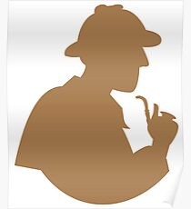 Sherlock holmes with a smoking pipe Poster
