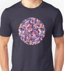 May Afternoon - a watercolor floral in purple and peach T-Shirt