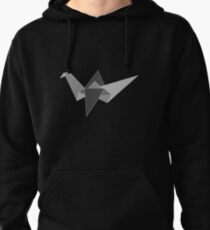 Gray Crane Pullover Hoodie