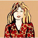 Girl with strawberry blonde hair by goanna