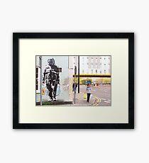 Urban Spaceman - SQPR - Stokes Croft - Bristol Framed Print