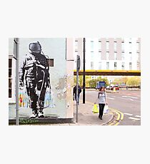 Urban Spaceman - SQPR - Stokes Croft - Bristol Photographic Print