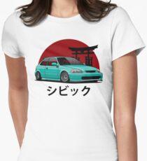Civic EK (aquamarine) Women's Fitted T-Shirt
