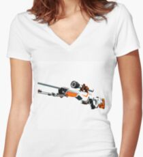 AWP Asiimov CSGO Women's Fitted V-Neck T-Shirt