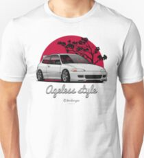 Ageless Style Civic EG (white or grey) Slim Fit T-Shirt