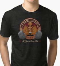 Beast Mode Gym (Non-Distressed) Tri-blend T-Shirt