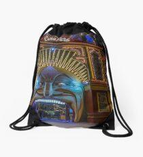 Luna Park after dark Drawstring Bag