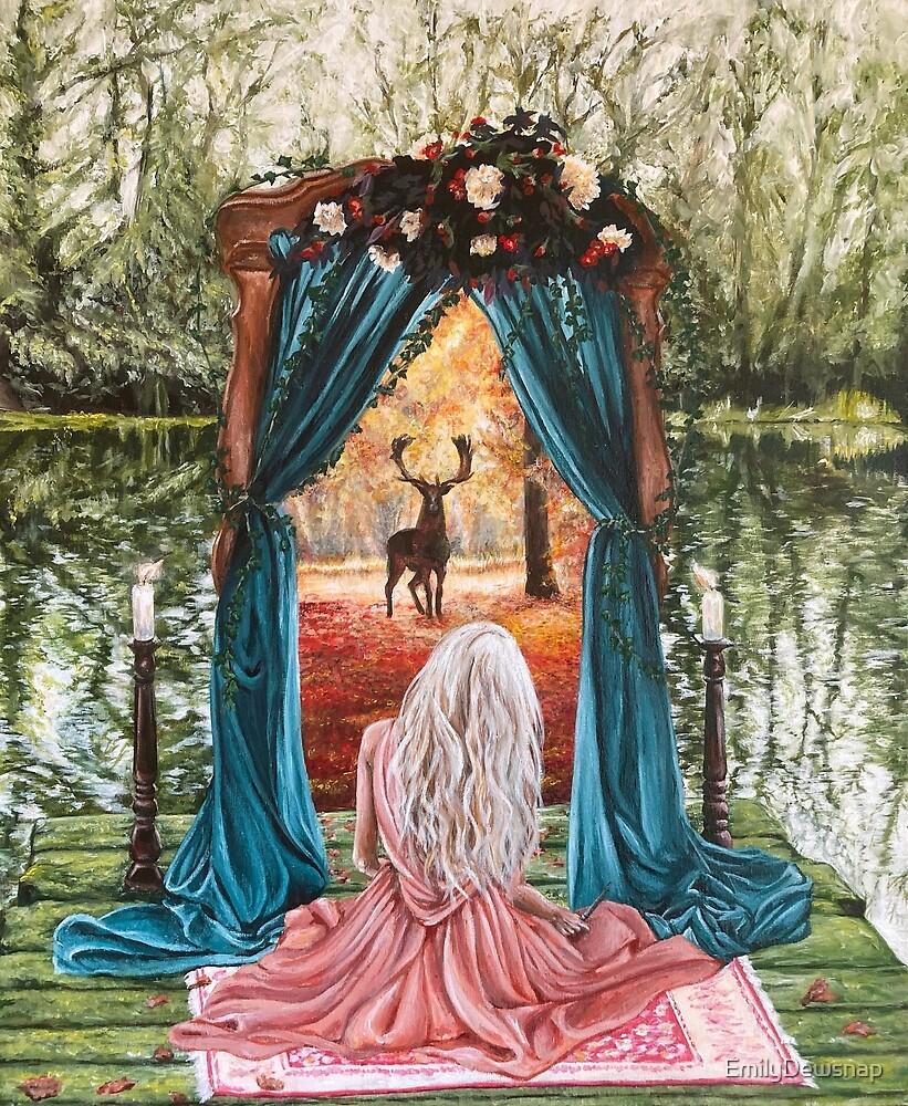 Portal - Gateway to Another Time and Place - Witchcraft Painting by EmilyDewsnap