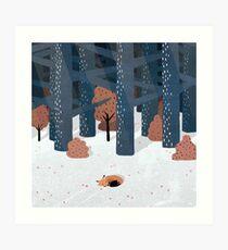 Asleep in the Woods Art Print