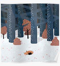 Schlafen im Wald Poster