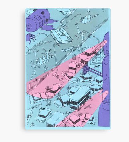 Alien Robot Attack Canvas Print