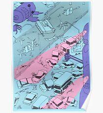 Alien Robot Attack Poster