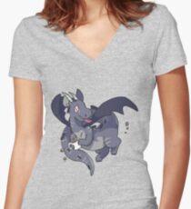 Mug Dragon Women's Fitted V-Neck T-Shirt