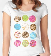 Sweet donuts Women's Fitted Scoop T-Shirt
