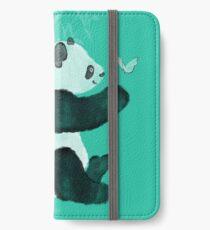 Panda meets Butterfly iPhone Flip-Case/Hülle/Klebefolie
