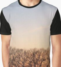Trees In The Romantic Sunset Graphic T-Shirt