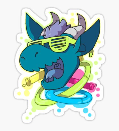 Rave Dragon Sticker