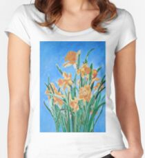 Golden Daffodils Women's Fitted Scoop T-Shirt