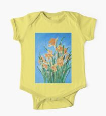 Golden Daffodils One Piece - Short Sleeve