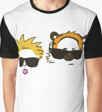 calvin and hobbes sunglasses Graphic T-Shirt