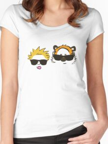 calvin and hobbes sunglasses Women's Fitted Scoop T-Shirt