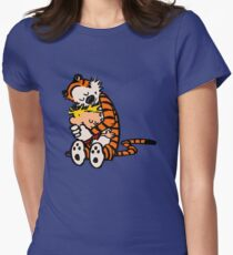 calvin and hobbes sleeping Womens Fitted T-Shirt