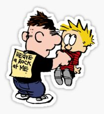 calvin mischievous Sticker