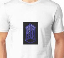 The Tardis Blue Outline Unisex T-Shirt