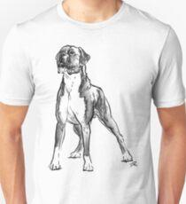 Boxer Dog Drawing Unisex T-Shirt
