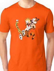 calvin and hobbes shocked Unisex T-Shirt