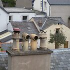 Chimney Pots In  Conwy - Wales by Kay Cunningham