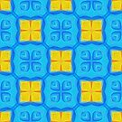 Yellow Blue DeepDream Pattern by blackhalt