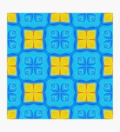 Yellow Blue DeepDream Pattern Photographic Print