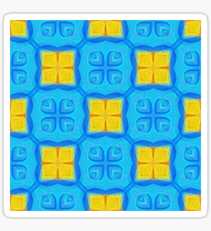 Yellow Blue DeepDream Pattern Sticker