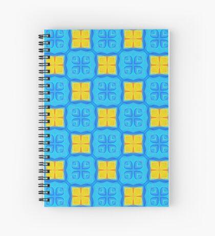 Yellow Blue DeepDream Pattern Spiral Notebook