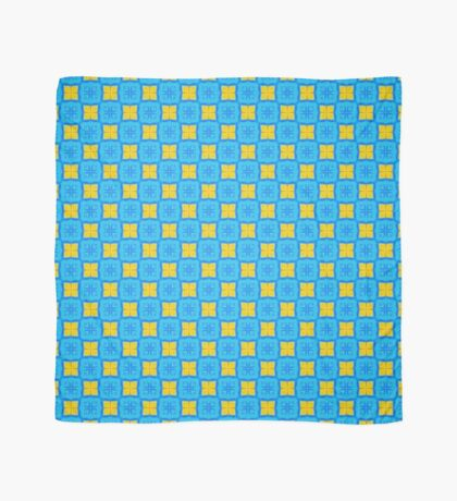 Yellow Blue DeepDream Pattern Scarf