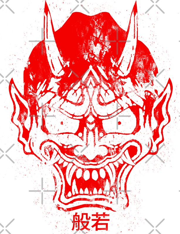Hannya mask red by filippobassano